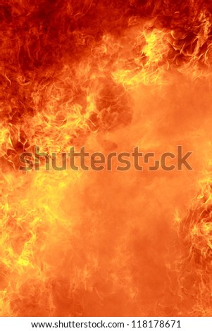 background of a storm of fire - stock photo