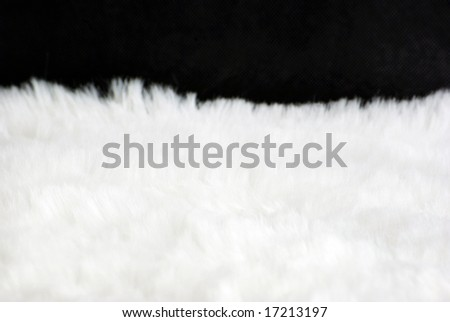 Background of a white wool - stock photo