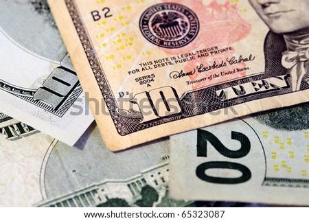 background of American money - stock photo