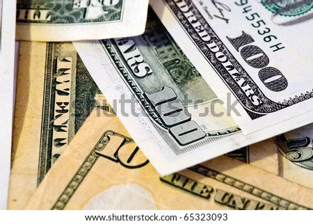 background of American money - stock photo