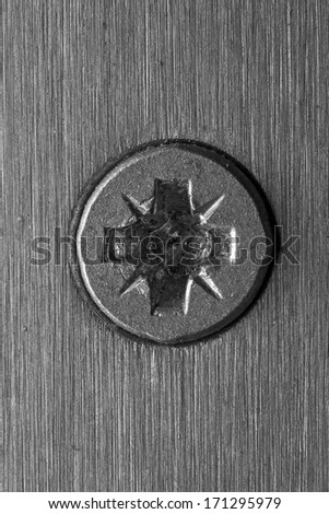 Background of an aluminum screw - stock photo