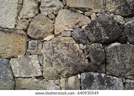 Background of an ancient stone wall