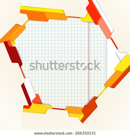 Background of an office stuff. Raster version - stock photo