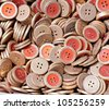 background of an old pile of buttons - stock photo