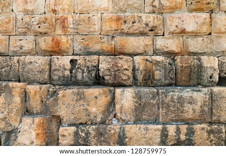 Background of an old stone wall texture