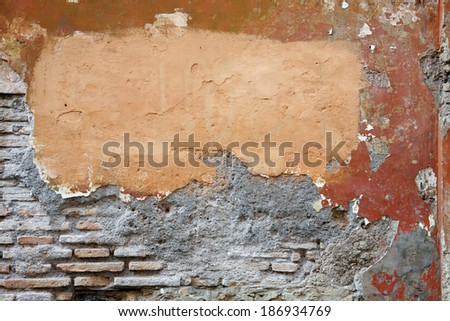 Background of anciant  brick wall texture - Rome Italy