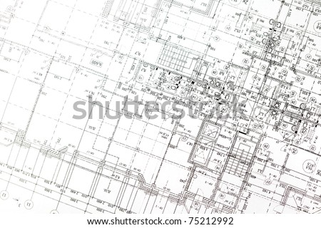 background of architectural drawing - stock photo