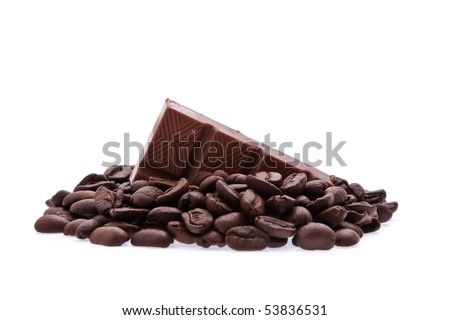 Background of aromatic roasted brown coffee - stock photo