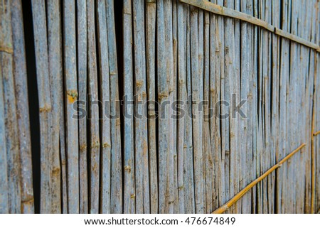 Background of bamboo wall, Thailand