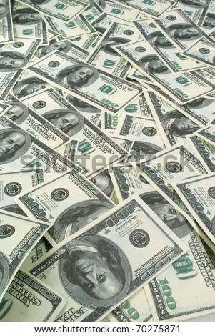 Background of banknotes one hundred dollars - stock photo