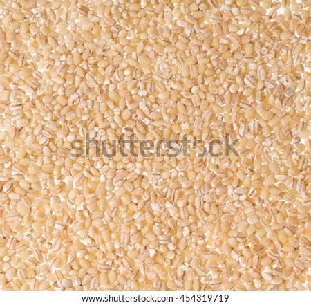 background of Barley rice - stock photo