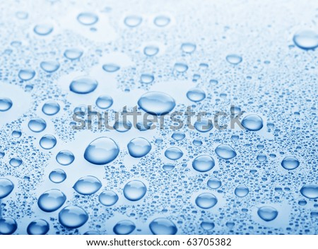background of beautiful water drops - stock photo