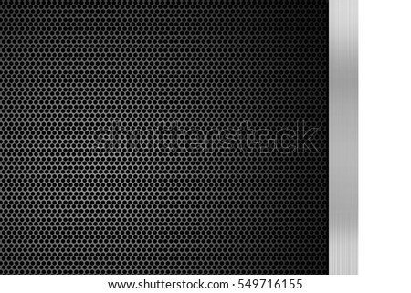 background of black metal texture