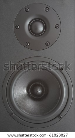 Background of black speaker with sphere