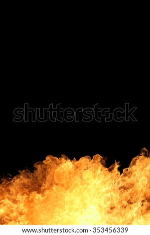background of blaze fire flame with copy space - stock photo