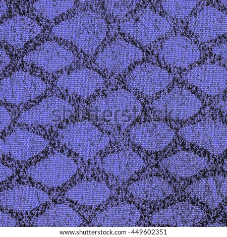 background of blue artificial snake skin - stock photo