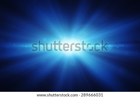 background of blue rays shining and sparkling  - stock photo