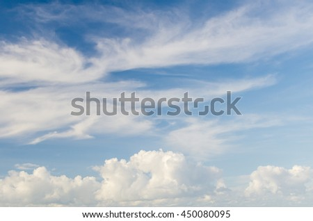 background of blue sky and cloud