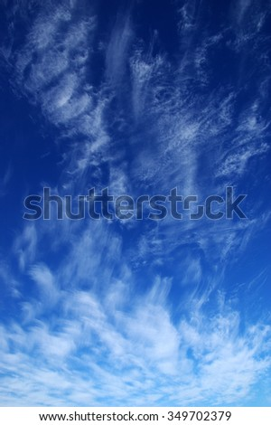 background of blue sky and white clouds