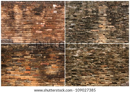 Background of brick wall texture collection