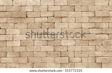 Background of brick wall texture, Retro color - stock photo