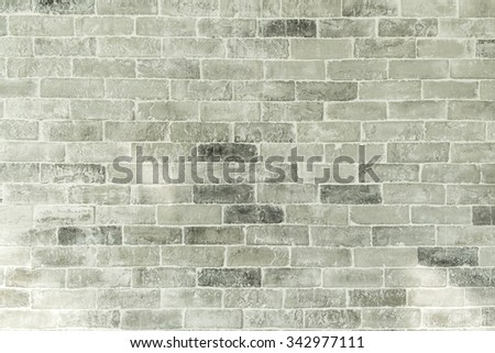 Background of brick wall texture, Seamless design vintage style white grey tone brick wall detailed pattern textured background. - stock photo
