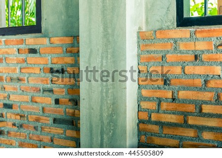 Background of brick wall texture (vintage tone)