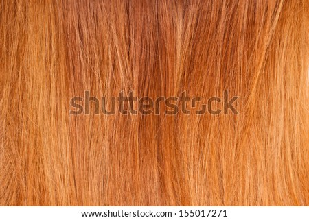 Background of bright red natural hair - stock photo
