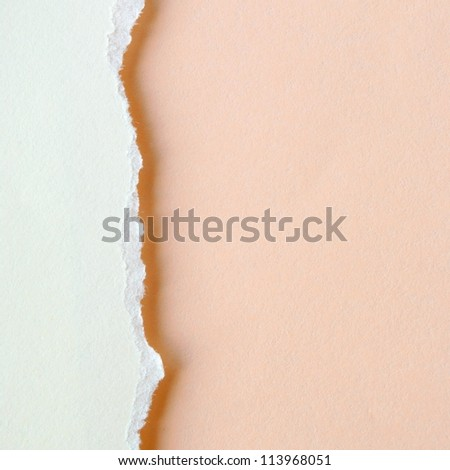 background of bright torn paper for your message - stock photo