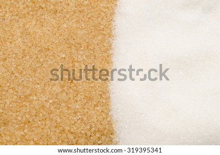 background of brown and white sugar - stock photo