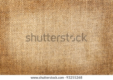 Background of burlap hessian sacking - stock photo