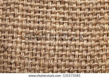 Background of burlap hessian sacking, coarse cloth made �¢??�¢??of linen/ - stock photo