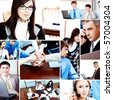 background of business people - stock photo