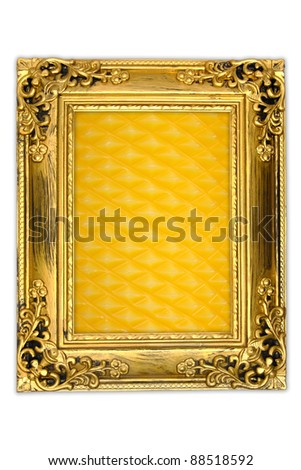 background of Candle in the frame - stock photo