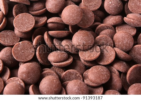 Background of chocolate drops - stock photo
