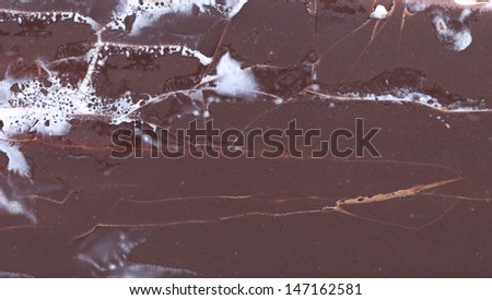 Background of chocolate vanilla ice cream.