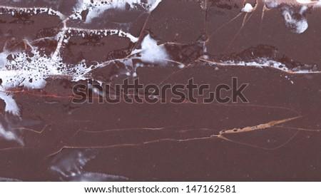 Background of chocolate vanilla ice cream. - stock photo