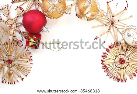 Background of Christmas decorations - stock photo