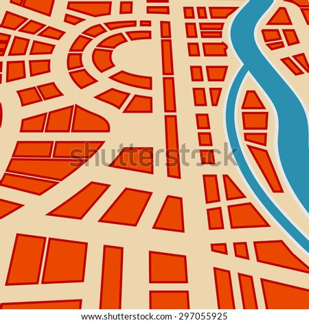 Background of city map. Raster version - stock photo