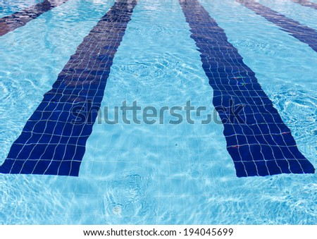 Background of clear water in open-air pool - stock photo