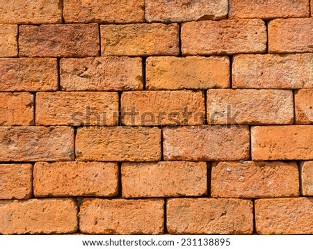 Background of closeup brick wall texture - stock photo