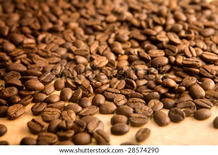background of coffe grains