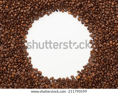 Background of coffee beans/ coffee beans/ coffee beans texture  - stock photo