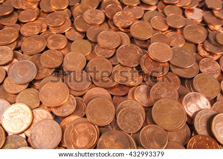 background  of coins. Money background - stock photo