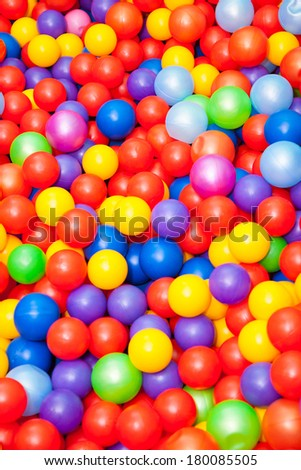 Background of colored plastic balls