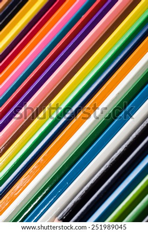 Background of colored wood pencils