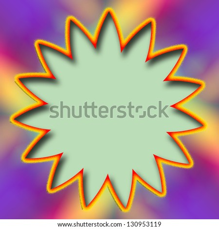 Background of colorful abstract with blank circle for adding text - stock photo