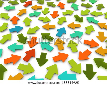 Background of colorful arrows