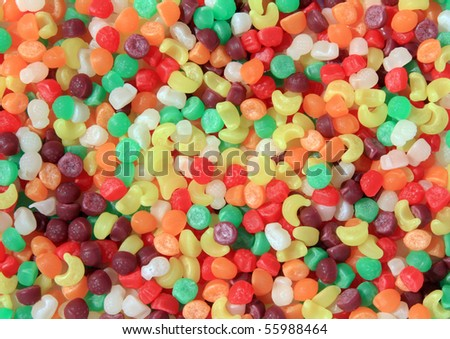 Background of colorful candies.