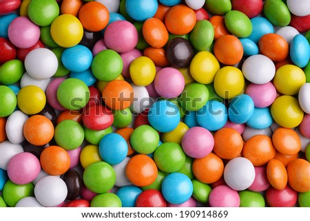 Background of colorful candy drops - stock photo